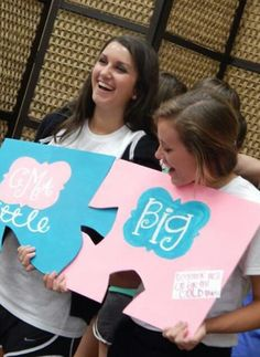 Big sis lil sis reveal phi mu kappa eta nicholls state university -sorority puzzle pieces we fit together