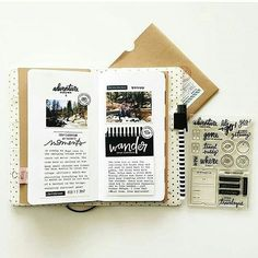 ⋆★⋆more pins @sassmonsters⋆★⋆ Bullet Journal Inspo, Journal Diary, Journal Cards, Travel Journal Pages, Cahier Journal, Travel Journals, Journal Notebook, Notebook Ideas, Studio Calico