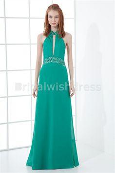 Beading Sleeveless Formal Evening Floor-Length Special Occasion Dresses