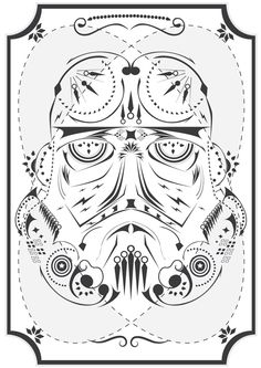 Stormtrooper - Star Wars On Acid by Michael Tesch, via Behance