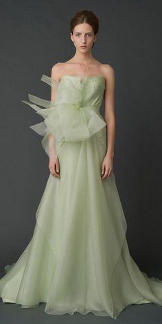Novias vestidas de verde