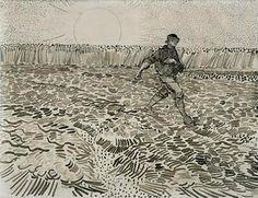 Vincent van Gogh, 'de zaaier' augustus 1888, 24x 32 cm, Van Gogh Museum, Amsterdam