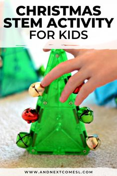 Looking for Christmas activities for toddlers and preschool children? Then youll definitely want to try this Christmas STEM activity idea for kids! It uses Manga-Tiles and jingle bells to explore magnet science (but obviously with a Christmas spin! Christmas Activities For Toddlers, Educational Activities For Kids, Winter Crafts For Kids, Preschool Christmas, Science For Kids, Infant Activities, Stem Activities, Christmas Themes, Kids Christmas