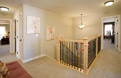Like the metal/wood railing.  Home Features | Cambridge | New Home in Cobblestone | Pulte Homes