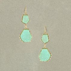 Raw Stone Earring – Turquoise from Jewellery Pop-Up Shop