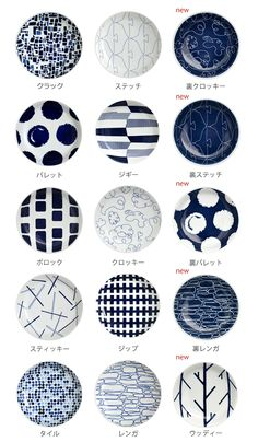 Japanese blue and white plates Pottery Painting Designs, Pottery Designs, Paint Designs, Japanese Plates, Japanese Ceramics, Japanese Patterns, Japanese Design, Blue Pottery, Ceramic Pottery