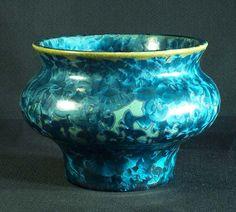Teal and Olive Crystalline Glaze Vase by MorganHarrisPottery, $100.00