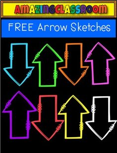 This cute clip art set includes 8 colorful arrow sketched images. These are high quality png images (meaning no white background around them).  They will re-size nicely and still remain crisp.  These can be used for personal and/or commercial use as long as a link back is provided in your products.