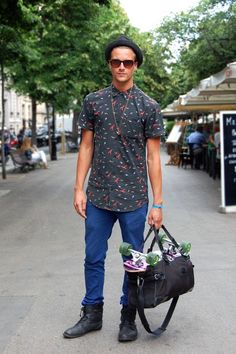 A fashion skater on the street