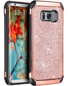 Galaxy S8+ Plus Case Leather Glitter Sparkly Bling Hybrid Dual Layer Rose Gold | Cell Phones & Accessories, Cell Phone Accessories, Cases, Covers & Skins | eBay!