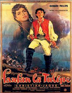 Fanfan la Tulipe (1951) un film de Christian-jaque avec Gérard Philipe et Gina Lollobrigida. Telechargement, VOD, cinéma, TV, DVD.