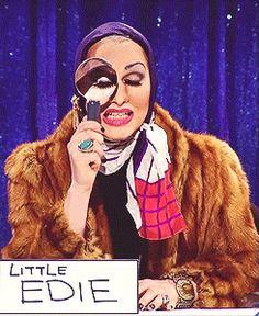 Jinkx Monsoon as Little Edie in The Snatch Game on RuPaul Drag Race Season 5.