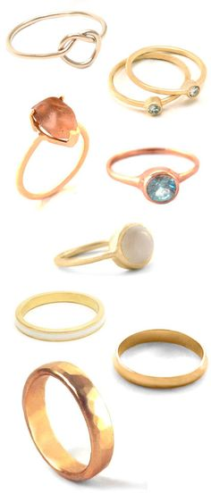 Alternative Eco-Friendly Wedding Rings from Bario-Neal. Love!
