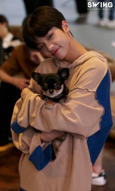 Dongpyo holding Tan(they both look so adorable together) Lee Dong Wook, Boy Idols, Dsp Media, Fandom, My Boo, Debut Album, Kpop Boy, Cute Love, Boyfriend Material