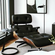 """Cambie & 33rd Penthouse - no matter how many times we use the classic """"Eames Lounge Chair"""" in a space it still takes my breath away every time. Watch for this project in """"Style at Home - January 2016"""". @tracey_ayton photography"""