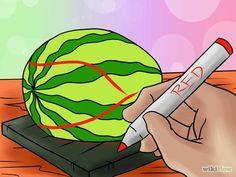 Image titled Carve a Watermelon T Rex Dinosaur Step 2