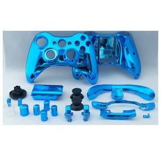 Chrome Plating Abs Protective Shell For Xbox 360 Wireless Controller. Blue Glossy Chrome Xbox 360 Custom Controller Shell Replacement is available now from our US and UK warehouse  Free shipping to US and UK in 5-12 business days ship to Canada, Brazil in 7-10 days  Description :  Electroplate Chrome ABS Entire Protective Case Shell For XBOX 360 Wireless Controller Multicolor  Brand new & high quality; Customize your own XBOX 360 Wireless Controller & makes it unique & outstanding; Comes…
