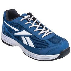 Reebok RB1825 Mens Blue Ketee EH Reflective Athletic Steel Toe Shoes
