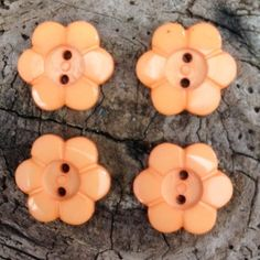 Just Peachy Floral Buttons