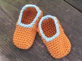 Sweet Potato Crochet Baby Slippers. A Free Crochet Pattern For Newborn to Toddler Slippers. ¯\_(ツ)_/¯