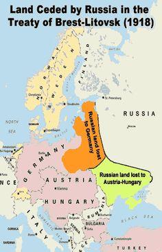 ww1 treaty of brest litovsk | new Bolshevik government of Russia signed the Treaty of Brest-Litovsk ...