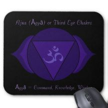 Ajna (Āgyā) or Third Eye Chakra Mousepad
