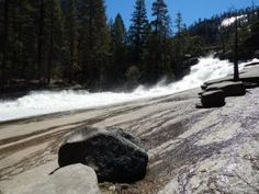 Above Vernal Fall Yosemite Waterfalls, Vernal Falls, Niagara Falls, Apron, Tours, Nature, Silver, Outdoor, Outdoors