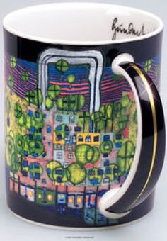 Image result for Hundertwasser artistic mugs