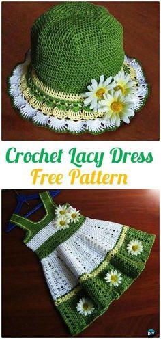 Crochet Lacy dress Free Pattern - #Crochet; Girls #Dress; Free Patterns