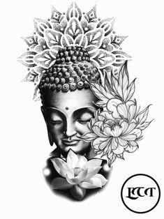 Lion Head Tattoos, Leg Tattoos, Body Art Tattoos, Sleeve Tattoos, Buddha Tattoo Design, Shiva Tattoo Design, Abstract Tattoo Designs, Tattoo Sleeve Designs, Buddah Sleeve Tattoo