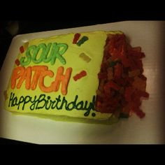 Sour Patch Kids Cake
