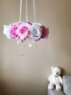 Flower mobile Flower chandelier Baby mobile by PaulettaStore