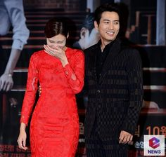 cha ye ryun and joo sang wook - Korean Celebrity Couples, Korean Celebrities, Joo Sang Wook, Singing, Dresses With Sleeves, Long Sleeve, Fashion, Moda, Sleeve Dresses