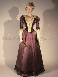 Evening dress, ca 1891