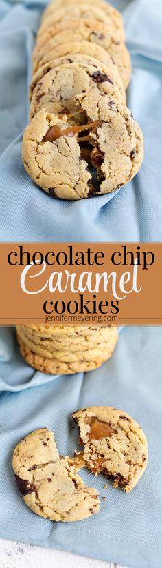 Chocolate Chip Caramel Cookies - JenniferMeyering.com