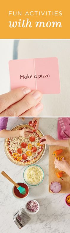 Spending time with your kids is one of the best parts of being a mom. This Mother's Day, cook dinner together by following this simple pizza recipe from Hallmark!