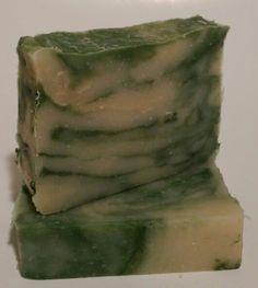 Shampure ( Aveda ) ( type ) handmade bar soap with green swirl Soap Boxes, Aveda, Bar Soap, Cucumber, Type, Green, Handmade, Food, Hand Made