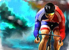 Chris Hoy by Vertias Art Paul Shipley #art #cycling