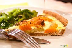 La flor del calabacín: De la huerta a la mesa: tarta salada de calabaza, calabacín y pesto