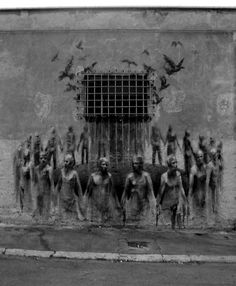 La ronde des zombis... / Street art. Espagne. / Spain. / By Borondo.