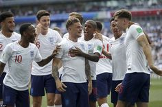 Harry Kane clutches match ball as England beat Panama at World Cup England National Football Team, England Football, National Football Teams, Manchester United, Manchester City, Real Madrid, England World Cup Squad, Women's Cycling Jersey, Cycling Jerseys