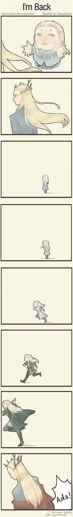 Thranduil and Legolas - I´m Back by Nekomiko_秘制沙包(微博)