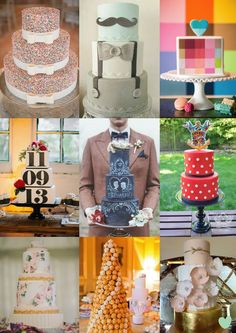 Cool Wedding Cakes for 2015 Mood Board from The #Wedding Community