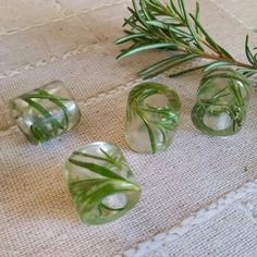 Rosemary Dread Bead Herbal Orgonite Adornment by HipHippieHooray