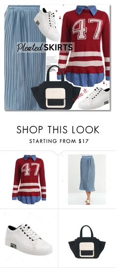 """Pleated Skirt"" by svijetlana ❤ liked on Polyvore featuring pleatedskirts, polyvoreeditorial and twinkledeals"