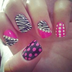 This is a perfect nail design for girly girls.