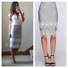 Double Layered Crochet Skirt | SexyModest Boutique #double #lace #pencilskirt #summer #loveit
