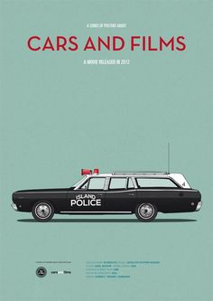 Movie posters that highlight the film's cars.