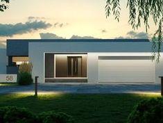 DOM.PL™ - Projekt domu CPT HomeKONCEPT-58 CE - DOM CP1-74 - gotowy koszt budowy House Design Pictures, Small Modern Home, Unique House Design, Home Fashion, Cabana, Construction, Architecture Design, House Plans, Villa