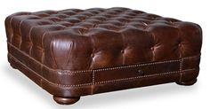 ART Furniture - Kennedy Walnut Leather Cocktail Ottoman with 2 D - 505504-5004AA